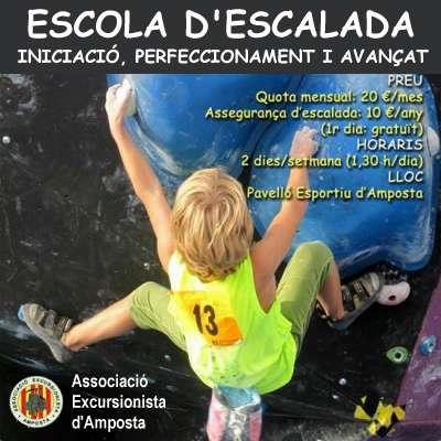 L'Associació Excursionista d'Amposta posa en marxa la seva Escola d'Escalada