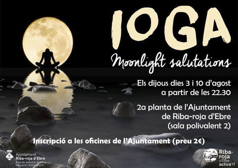 Èxit de públic en la primera sessió de ioga nocturn a Riba-roja d'Ebre | EbreActiu.cat, revista digital per a la gent activa