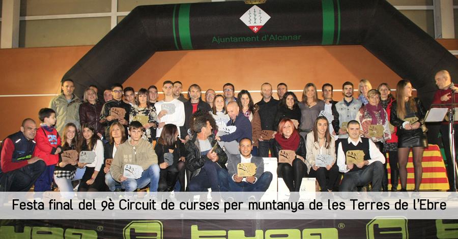 Festa final del 9è Circuit de curses per muntanya de les Terres de l'Ebre