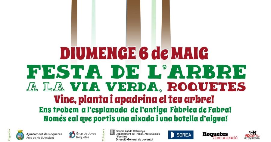 Festa de l'Arbre a la Via Verda de Roquetes