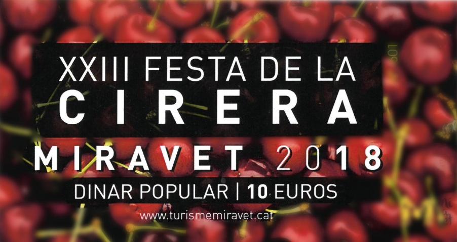 XXIII Festa de la Cirera de Miravet i IX Fira dels Canterers