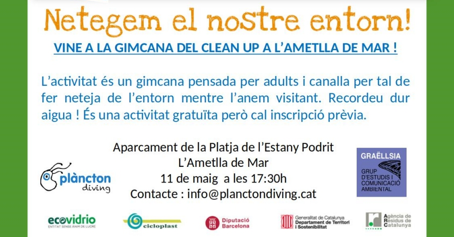 La gimcana Clean Up a l'Ametlla de Mar