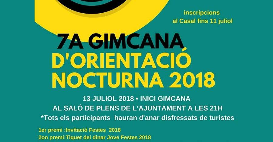 7a Gimcana d'orientació nocturna 2018