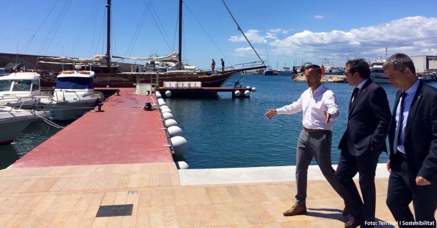 Entra en servei el nou front portuari de l´Ametlla de Mar