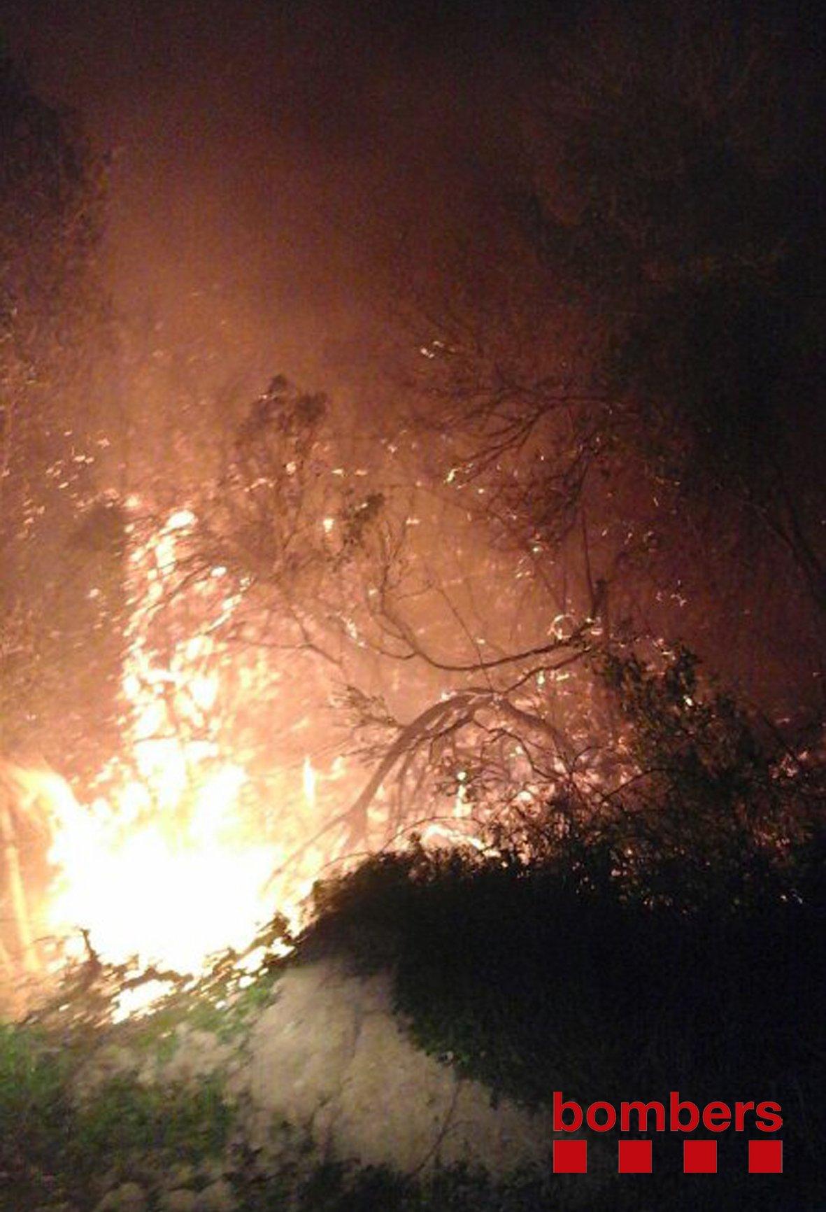 Un incendi crema al coll del Rajoler a Campredó