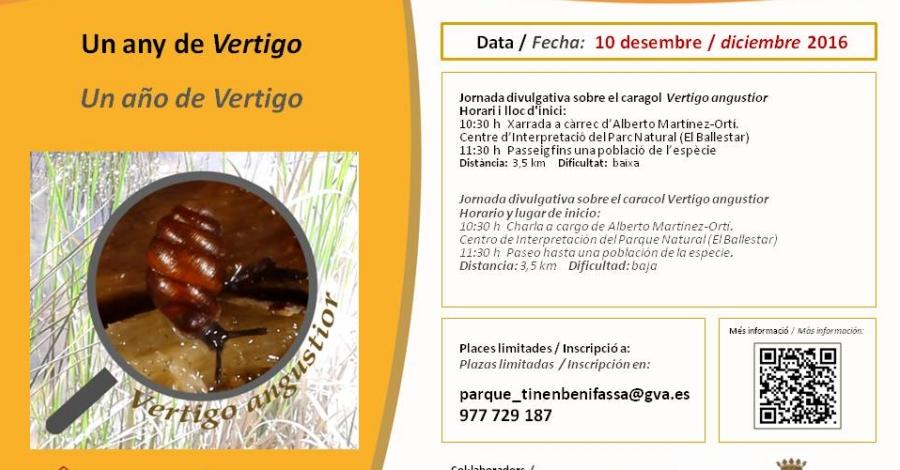 Un any de Vertigo: Jornada divulgativa sobre el caragol Vertigo angustior
