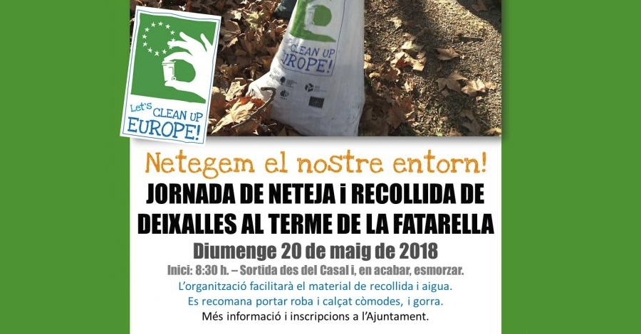 European Clean Up Day!: Jornada de neteja al terme de La Fatarella