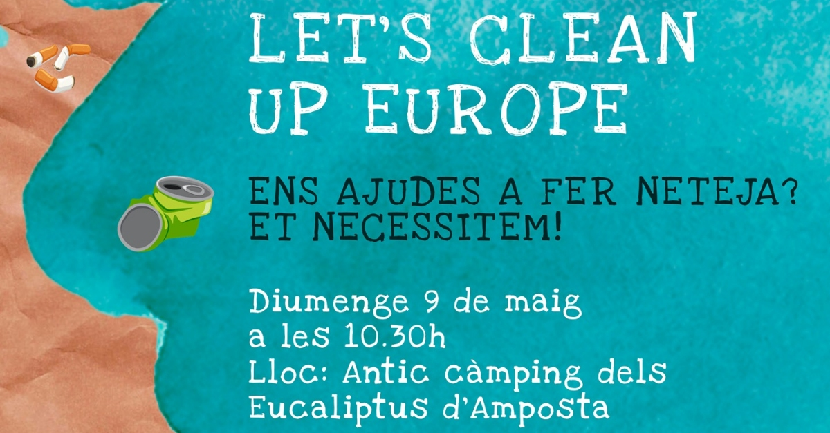 Let's Clean Up Europe Jornada de neteja a la platja Eucaliptus