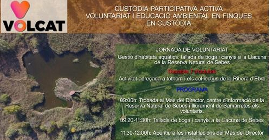 Jornada de voluntariat a la Reserva Natural de Sebes