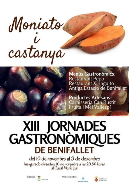 XIII Jornades Gastronòmiques de Benifallet. Moniato i castanya