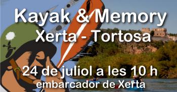 Kayak & Memory, Xerta - Tortosa (piraguada)