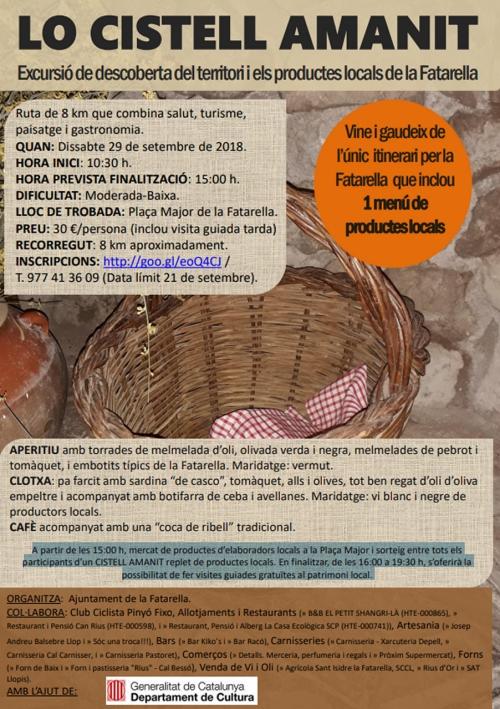 Lo Cistell Amanit, una nova proposta turística i gastronòmica a La Fatarella | EbreActiu.cat, revista digital per a la gent activa | Terres de l