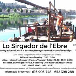 LO SIRGADOR DE L'EBRE. LLagut turístic<br>Tortosa