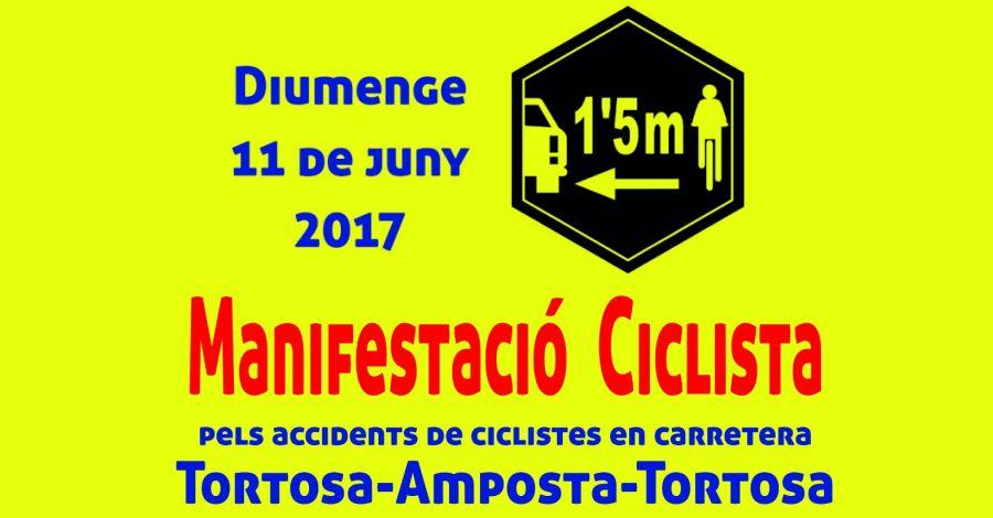 Manifestació ciclista, pels accidents de ciclistes en carretera