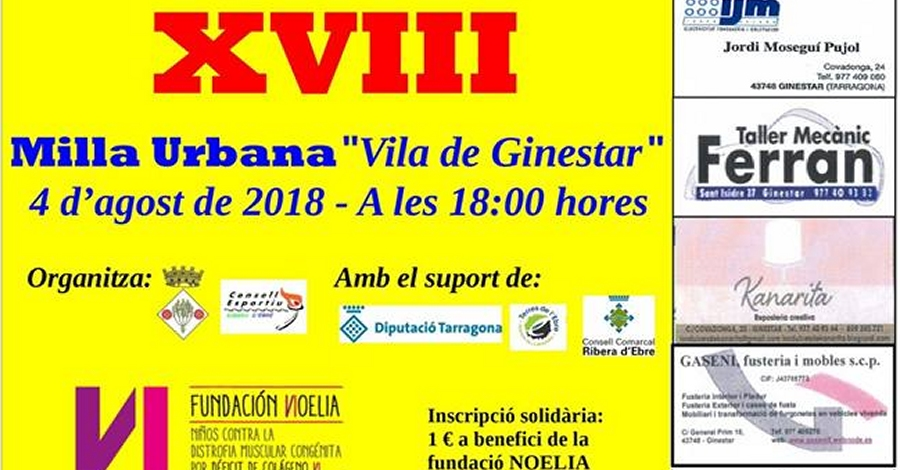 "XVIII Milla urbana ""Vila de Ginestar"""