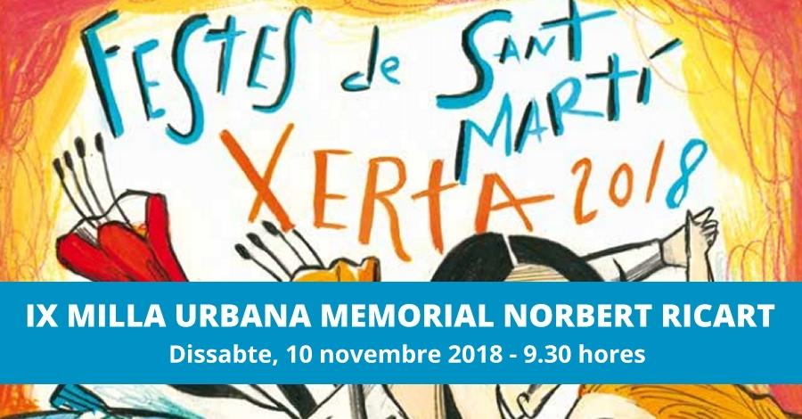 "IX Milla urbana memorial ""Norbert Ricart"""