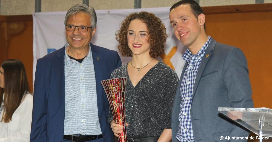 La patinadora Elisa Tomàs millor esportista de l´any a la Festa de l'Esport de l'Aldea