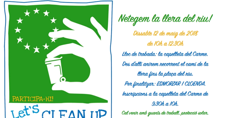 LET'S CLEAN UP - Netegem la llera del riu