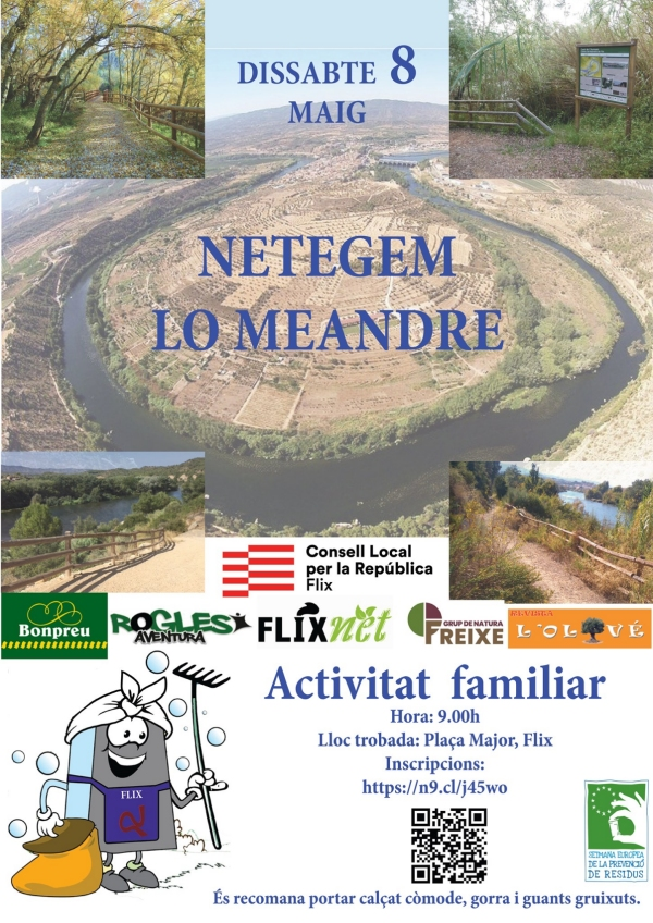 Let's Clean Up Europe: Netegem lo Meandre de Flix