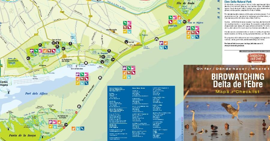El Parc Natural del Delta de l´Ebre edita un mapa d´on fer observació d´ocells