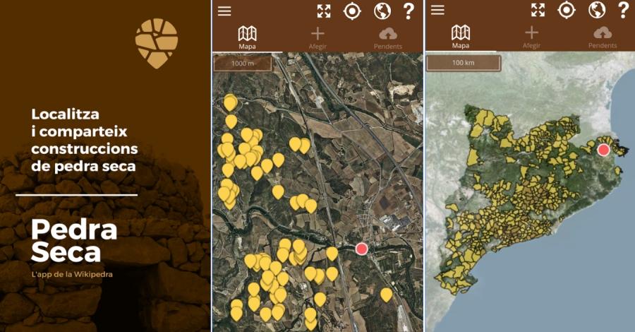 Una nova app permet inventariar sobre el terreny les construccions de pedra seca de Catalunya