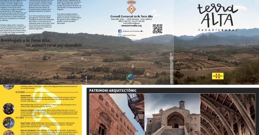 S'edita un plànol amb els principals atractius turístics de la Terra Alta