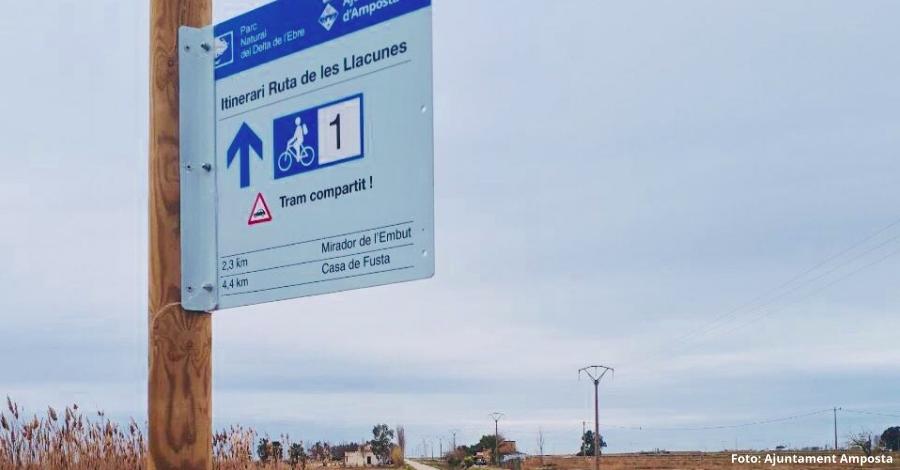Nova senyalització turística a les llacunes de l'Encanyissada i la Tancada, al Delta de l'Ebre