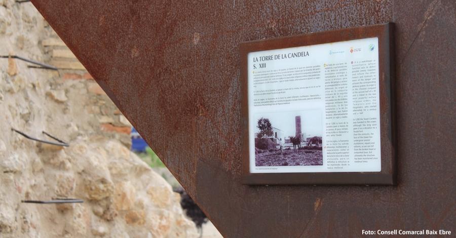 La Torre de la Candela de l´Aldea estrena senyalització interpretativa de les torres de defensa de l'Ebre