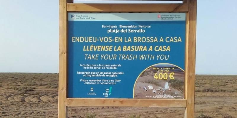 El Parc Natural del Delta de l�Ebre inicia la protecci� de la vegetaci� natural de la platja del Serrallo