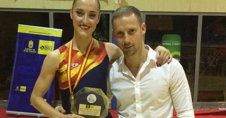 Elisa Tomàs, del Club Patí l'Aldea, campiona d'Espanya júnior de patinatge artístic