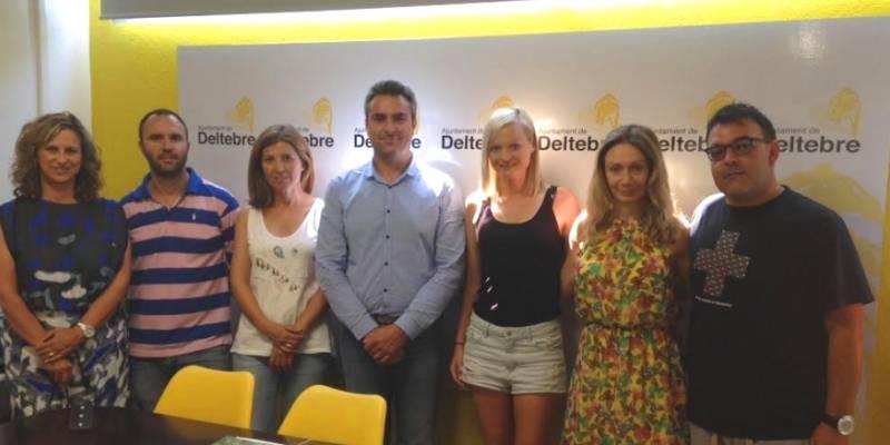 Deltebre rep l'atleta Júlia Takacs que es troba al municipi preparant els JJOO de Río