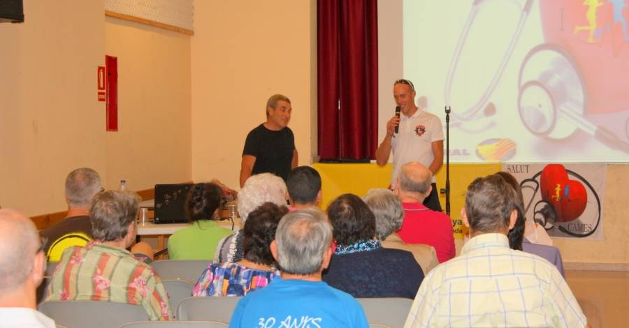 Òscar Griñó presenta als patrocinadors el seu projecte Salut i Cames