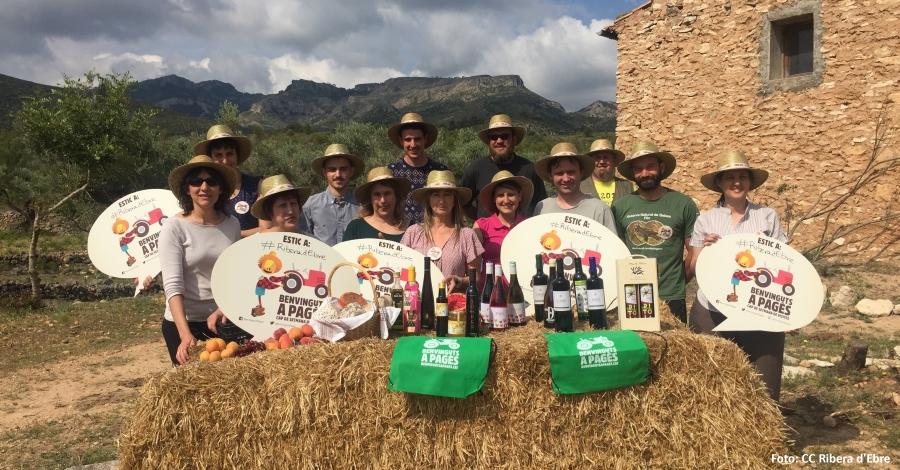 La Ribera d'Ebre rep la visita de gairebé 700 persones en la segona edició del Benvinguts a Pagès