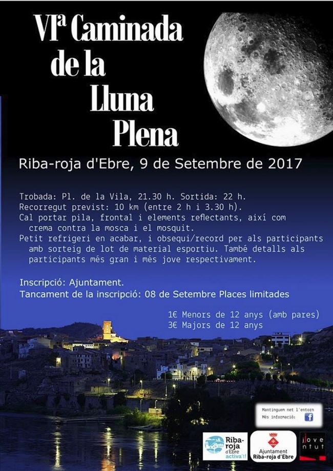 Riba-roja d'Ebre ja ho té tot a punt per a la VI Caminada de la Lluna Plena  | EbreActiu.cat, revista digital per a la gent activa