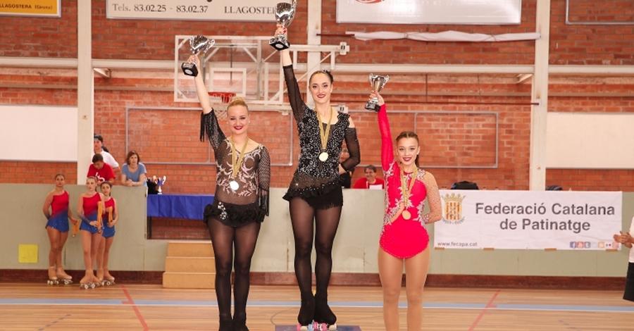 Or per al Club Patí L'Aldea al Campionat de Catalunya de patinatge artístic