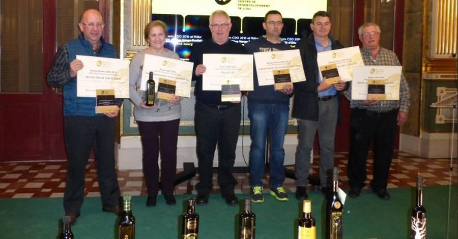 La Cooperativa de Godall i Rius d'Or de la Fatarella, guardonats pels seus olis verge extra 2016