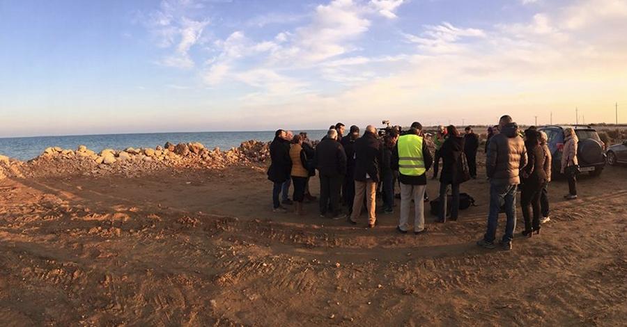 El conseller Rull visita els treballs d'emergència a la zona d'accés al Fangar