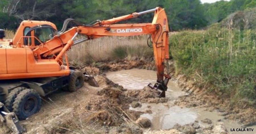 L'Ametlla de Mar comença els treballs per restaurar la llacuna litoral del Torrent del Pi