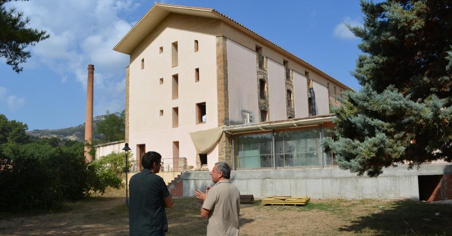 Les obres del Centre de Desenvolupament i Acceleració Turística Fàbrica Giner-Els Ports, a bon ritme