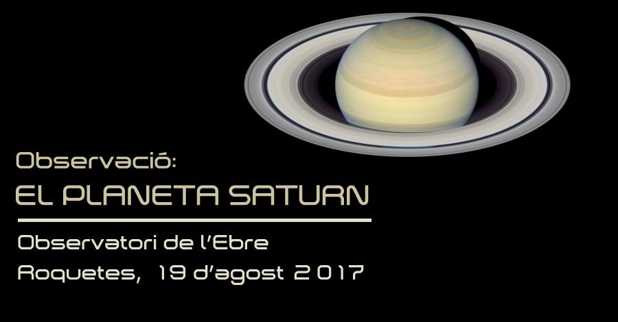Observació: El planeta Saturn
