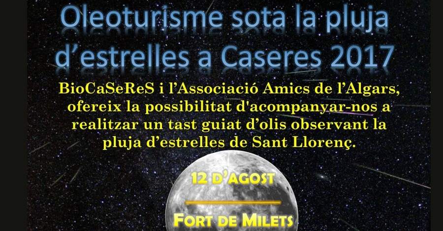Oleoturisme sota la pluja d'estrelles a Caseres 2017