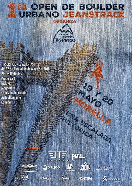 1er Open Boulder Urbà Jeanstrack-Morella