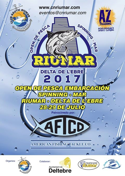 Open de pesca embarcació spinning mar