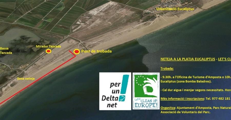 Let's Clean Up Europe a la platja Eucaliptus