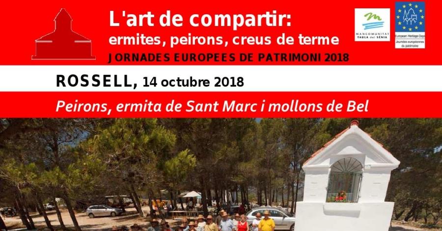 Peirons, ermita de Sant Marc i mollons de Bel