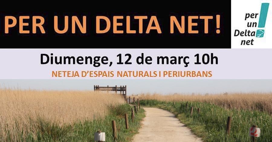 Per un delta Net! Neteja d'espais naturals i periurbans