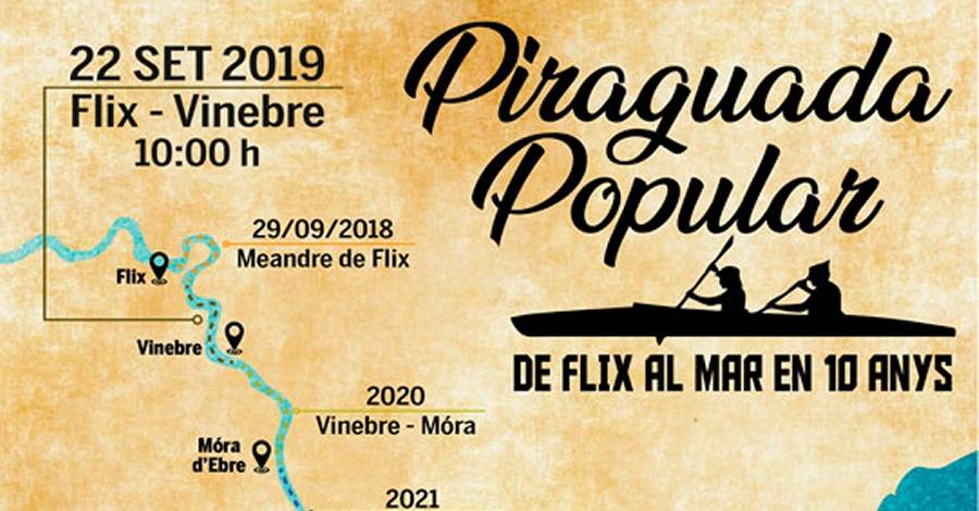 Piraguada popular de Flix al mar en 10 años: Flix-Vinebre