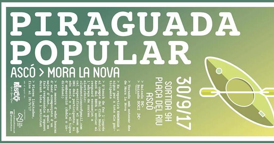 Piraguada popular Ascó > Móra la Nova