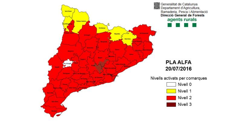 El Govern demana extremar la precaució davant el risc d'incendis