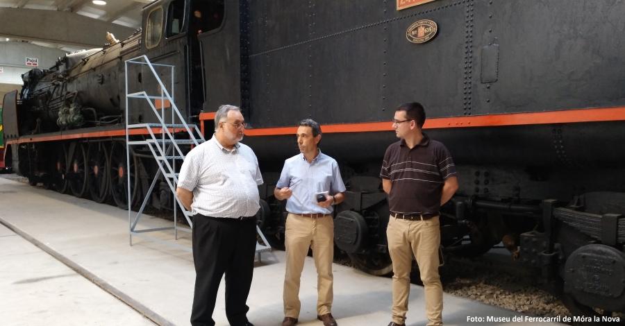 El Departament de Cultura i el mNACTEC presenten els plans de futur pel Museu del Ferrocarril de Móra la Nova